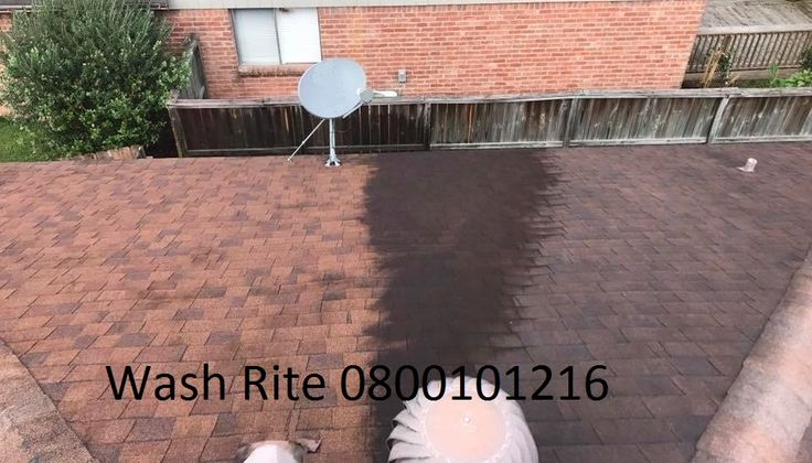 before and after roof cleaning by Wash Rite New Zealand