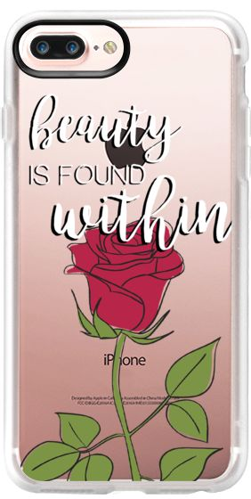 Casetify Protective iPhone 7 Plus Case and iPhone 7 Cases. Other Quotes iPhone Covers - Beauty And The Beast by Kiki's Bay   Casetify