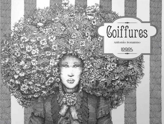 """Un'illustrazione tratta da """"Coiffures"""", nuova raccolta di fumetti di Antonio Bonanno, edita da Logos edizioni  #coiffues #capelli"""