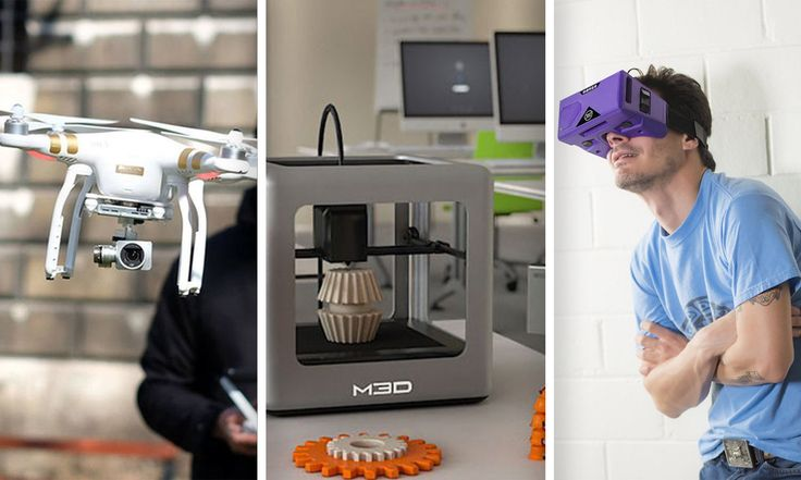 The coolest tech #giveaway from us - Phantom Drone, Micro 3D Printer and VR Goggles! Participate now!