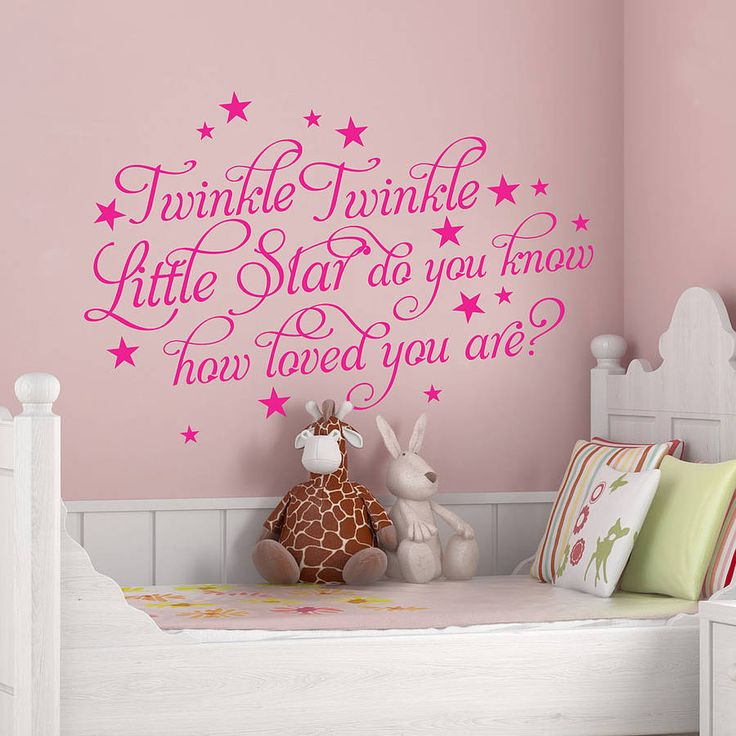 twinkle twinkle little star wall sticker choice image home design