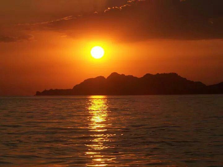 Sunset loutraki Greece
