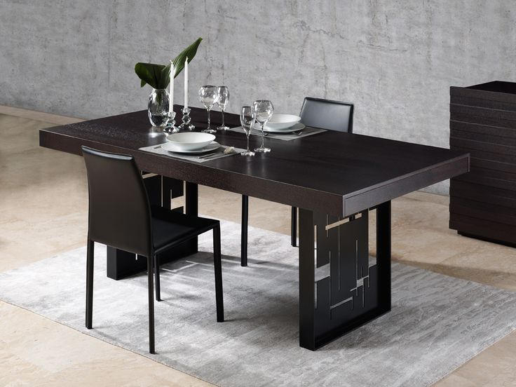 TOKYO contemporary dining table with metal legs