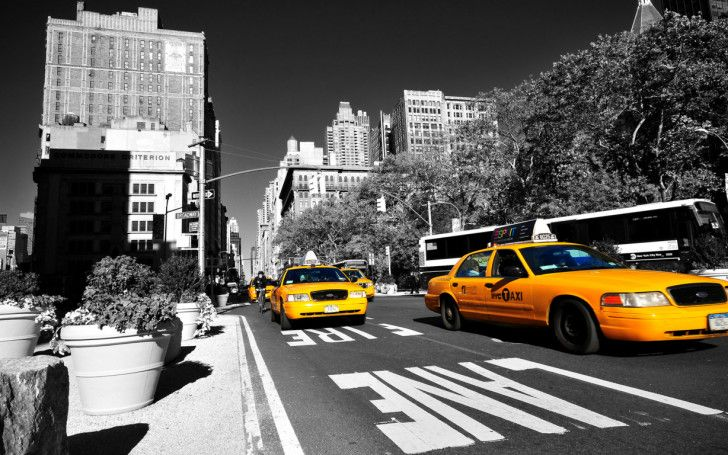 new york city HD wallpapers : New York Taxi HD Background