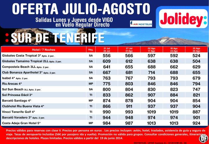 Oferta Sur de Tenerife julio-agosto, Salidas desde Vigo Cía Air Nostrum desde 504€ ultimo minuto - http://zocotours.com/oferta-sur-de-tenerife-julio-agosto-salidas-desde-vigo-cia-air-nostrum-desde-504e-ultimo-minuto/