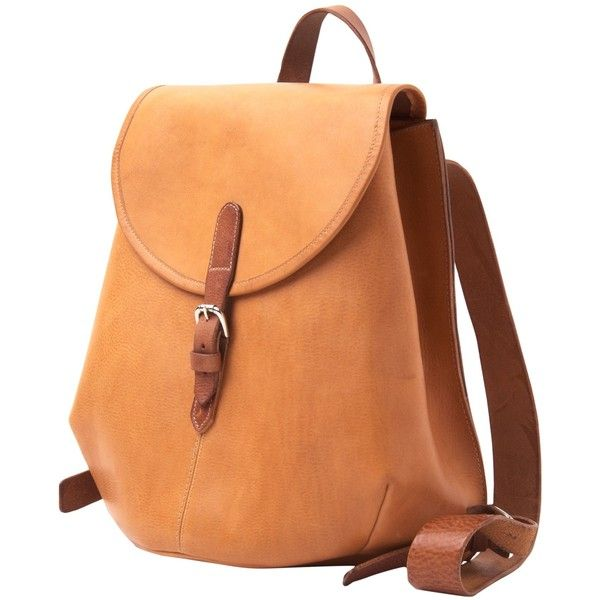 Toast Suzu Rucksack (3,520 MXN) ❤ liked on Polyvore featuring bags, backpacks, tan, leather bags, red leather backpack, tan leather backpack, day pack backpack and laptop bags