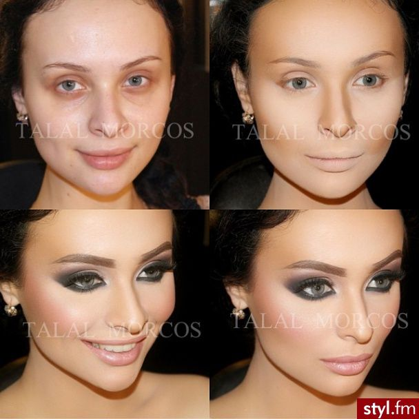 Before & After Contour Makeup