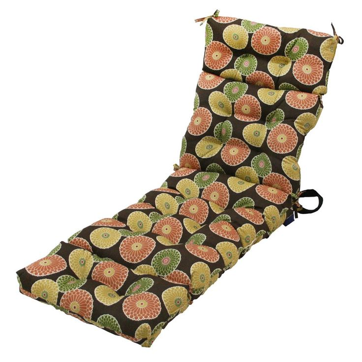 72-inch 4-section Contemporary Outdoor Chaise Lounge Cushion