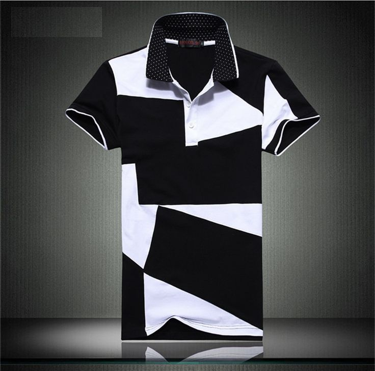 Men's short-sleeved Polo shirt black