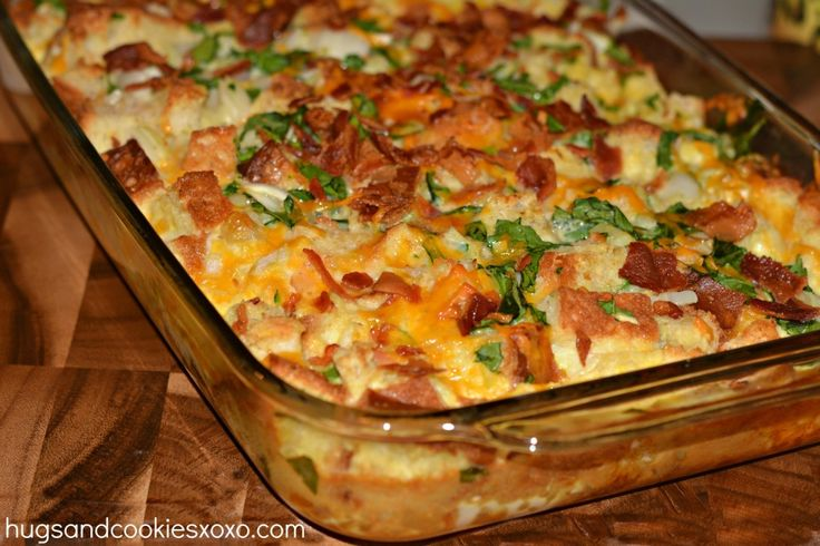 This is a fabulous egg casserole to serve for brunch or just spice up a weekend breakfast at home. I used Udi's gluten free bread but you can use any regular bread you want if you're not gluten free! Will also work with croissants, challah or baguette!!!