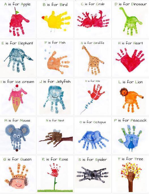Alphabet hand painting