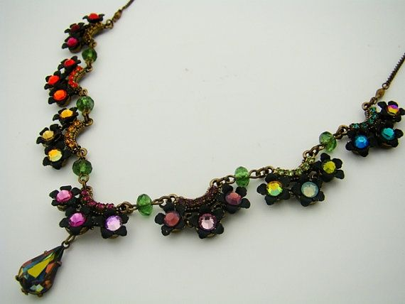COLORS boho chic romantic jewelry colorful beaded by OrlyZeelon