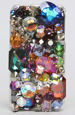 oh hai, most amazing cellphone case ever. how i covet you.   rhinestones, ridiculous, bling  by Gasoline Glamour