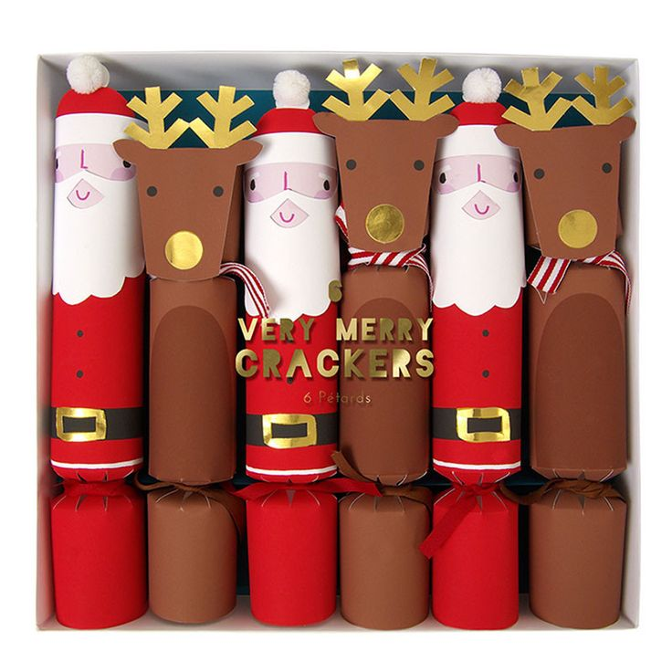Santa and Reindeer Crackers