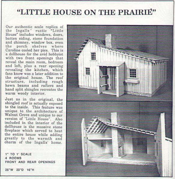 Little House on the Prairie cabin dollhouse   Opening Scene Replicas