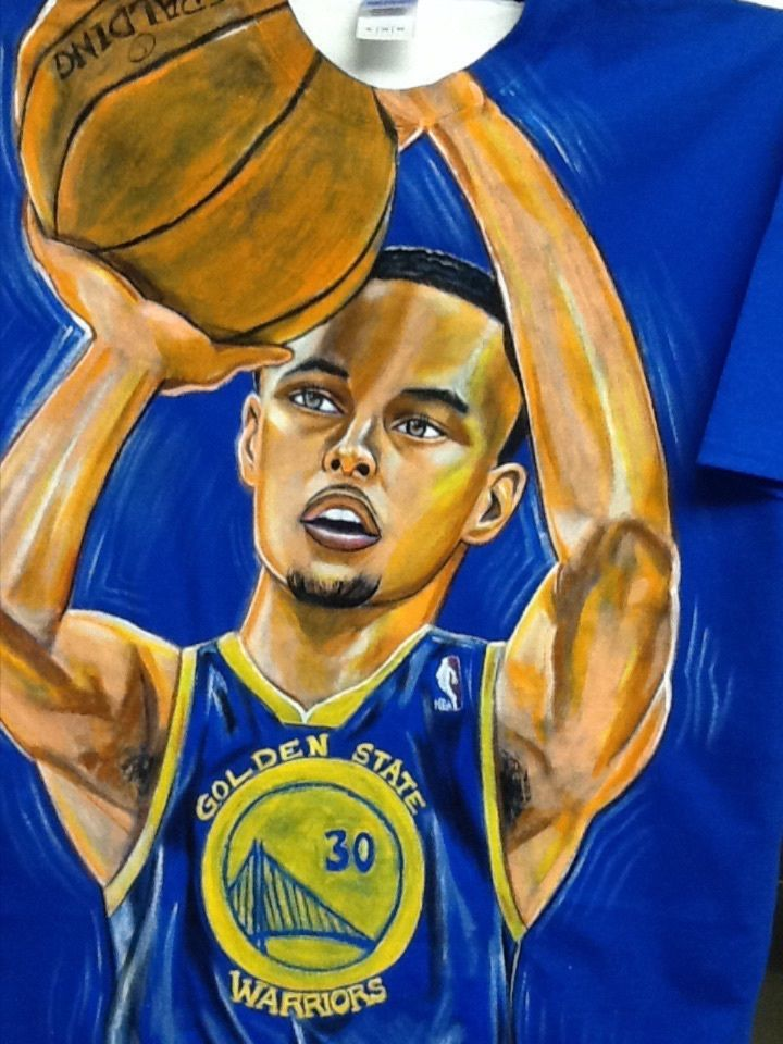 Stephen Curry Shirt Handpainted and one of a kind #GoldenStateWarriors