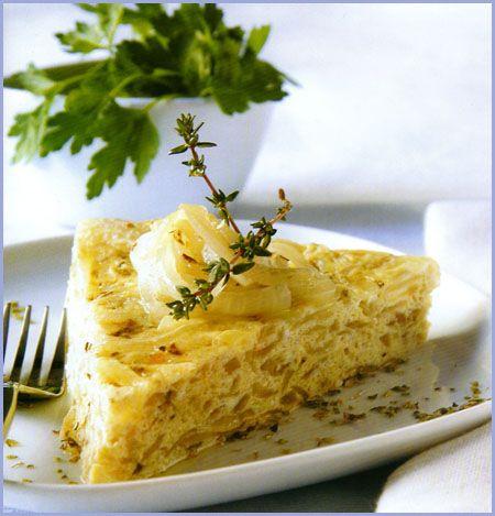 Tarta de cebollas
