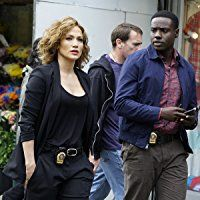 Jennifer Lopez and Dayo Okeniyi in Shades of Blue (2016)