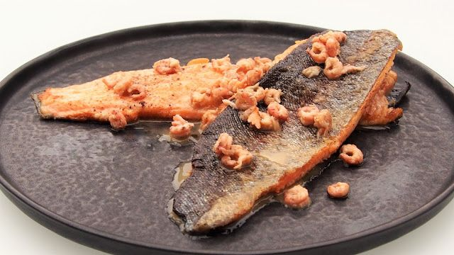 Trout with brown shrimp butter. Simple yet elegant recipe.