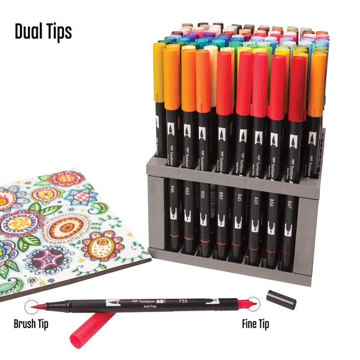 Love These Markers Tombows Dual Brush Pens Are A Nice Alternative To Copics About 1 4 The Price Water Based Not Alcohol Does Tombow Dual Brush Pen Tombow Brush Pen Brush Pen