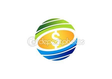 #gold #coin #dollar #sign #circle #money #logo #finance #symbol #vector #stock #design http://depositphotos.com?ref=3904401