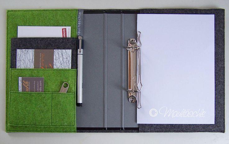 Ich liebe diese Idee !  Organizer A5 Ringbuch im Filz Chaosplaner von Maultäschle auf DaWanda.com