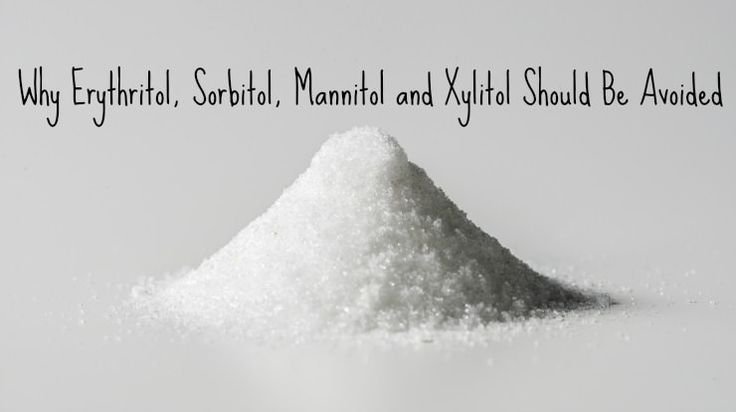 Sugar alcohols like xylitol, erythritol and sorbitol are heavily marketed to the overweight and diabetic, but over time, use can lead to worse problems.  http://www.thehealthyhomeeconomist.com/avoid-sugar-alcohol-for-better-gut-health/