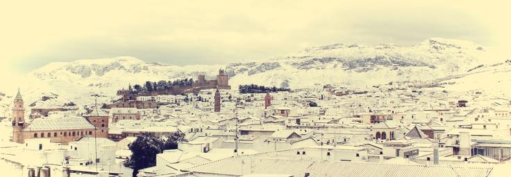Estampas #Antequera. Nevada Día de Andalucía