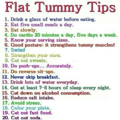 Want a flat tummy? They say try these