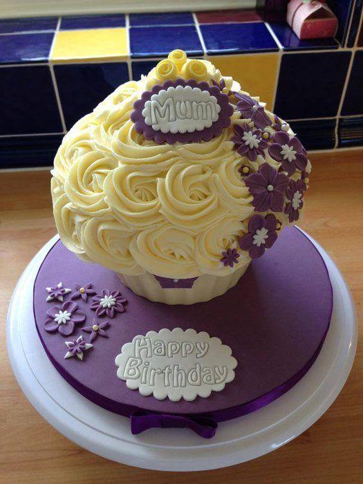 Purple Flower Giant Cupcake