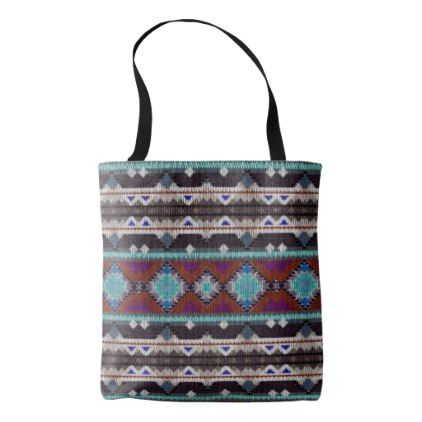 Bohemian ornament in ethno-style Aztec Tote Bag - patterns pattern special unique design gift idea diy