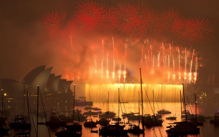 More than 10,000 aerial fireworks, 25,000 shooting comets and 100,000 pyrotechnic effects were used during the annual Sydney Harbour New Year's Eve show, with an estimated 1.6 million people watching from along the harbour foreshore, local media reported.