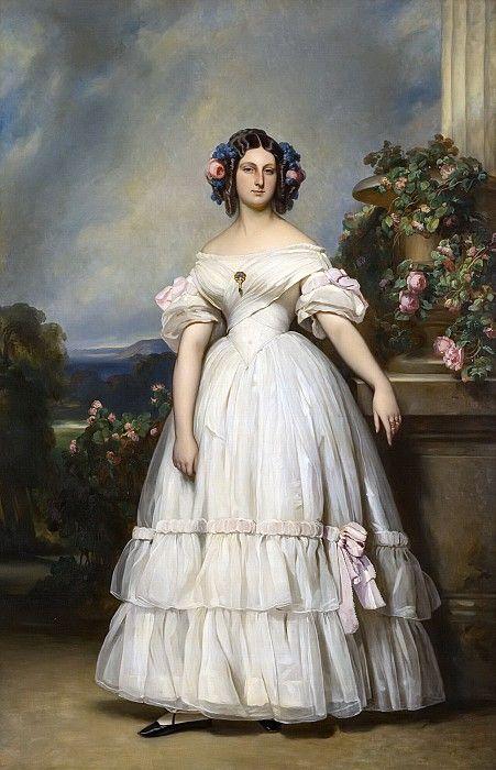 Принцесса Клементина Орлеанская, принцесса Саксен-Кобург-Готская (1817-1907). Франц Ксавьер Винтерхальтер.