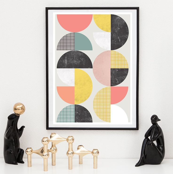 17 best images about mid century scandinavian inspired poster prints on pinterest abstract art. Black Bedroom Furniture Sets. Home Design Ideas