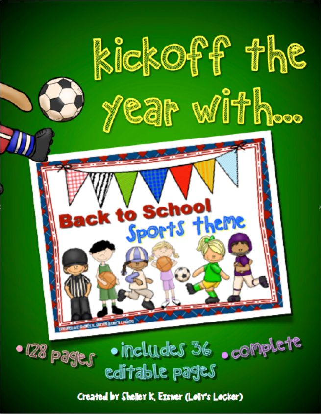 Back to School Sports Theme Mega Pack Activities, Back
