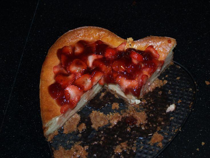 Strawberry cheesecake, recept van Rudolph van 24 kitchen.