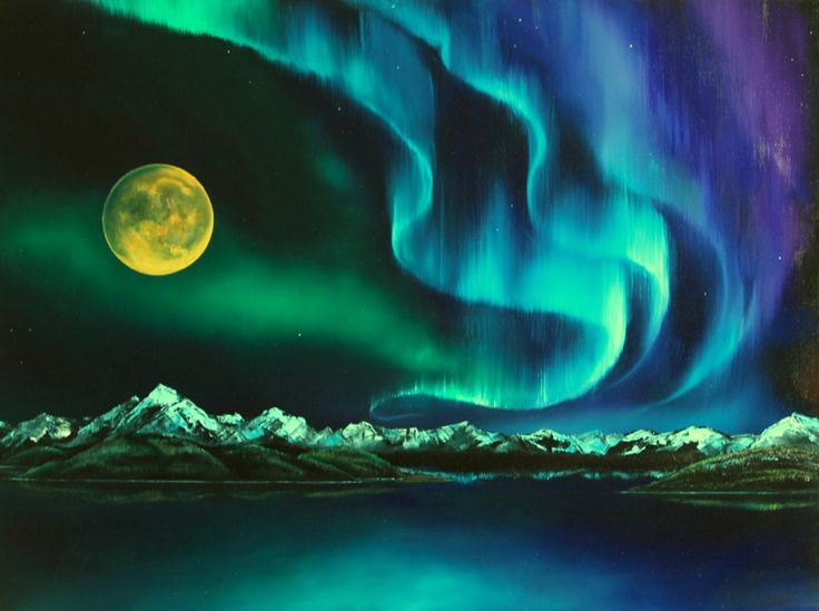 Historical Paintings Of The Northern Lights Northern