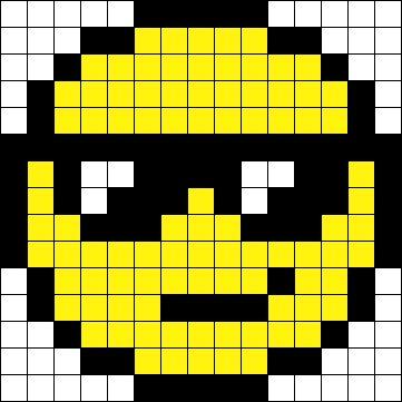 cool face - Grid Paint