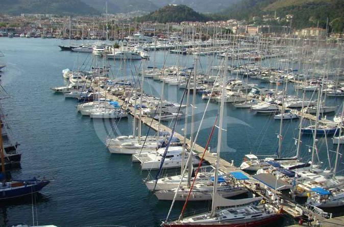 Marmaris Boat Trip from Rhodes Marmaris is one of the most attractive tourist locations on the west Turkish coast. Is just a short cruise away, two countries, one'' Holiday''.You depart from the commercial port where the collection of boarding passes is required. Then you pass through passport control before boarding the boat. Departure of boat to Marmaris is at 9am.Upon arrival, you are taken to a picturesque location for a traditional Turkish breakfast and then for a visit t...