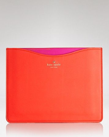 kate spade new york iPad Case - Envelope Leather | Bloomingdale's    note stamp & heart - could be a bow