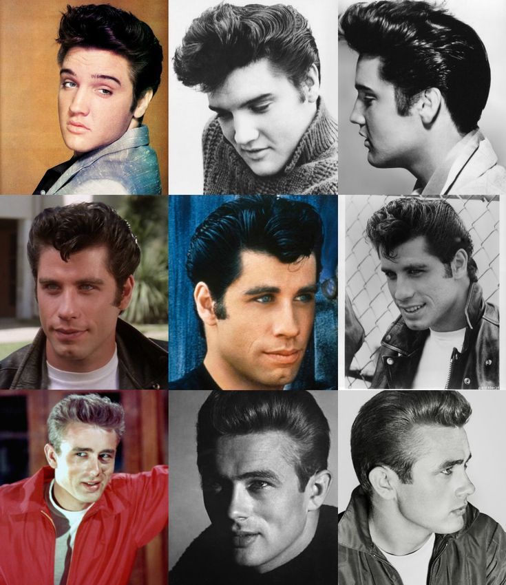 Pompadour hairstyle 1950's 2