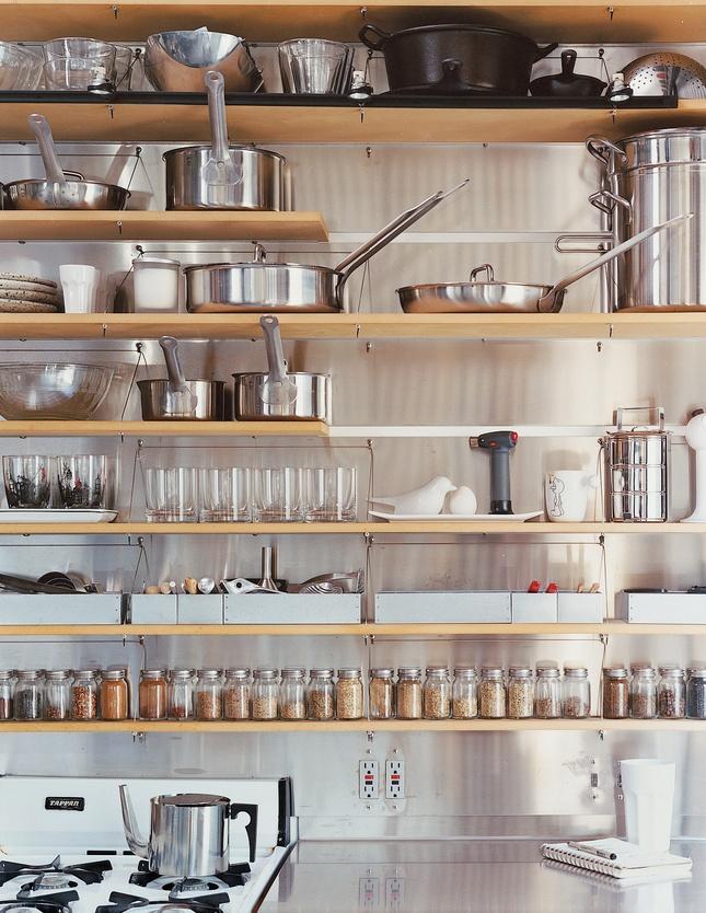 Schafer's loft kitchen