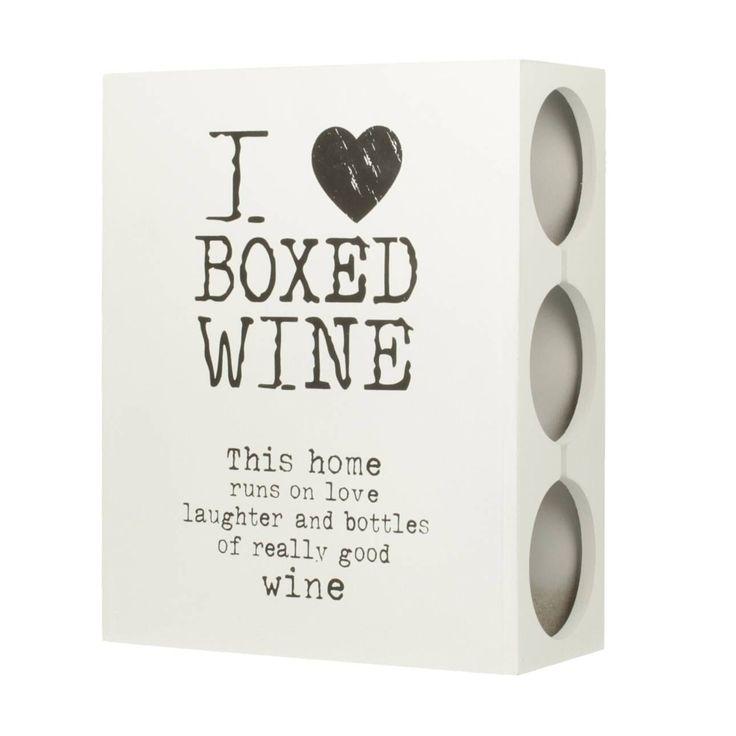Skrzynka- stojak na wino White 24x10,5x30cm, 24x10,5x30cm - Dekoria  #love #milosc #dekoracje #prezenty #gift #celebration #ideas