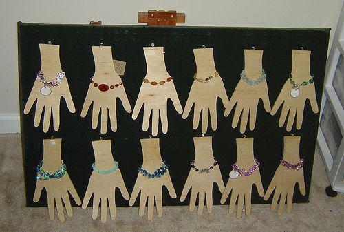 Bracelet jewelry display.