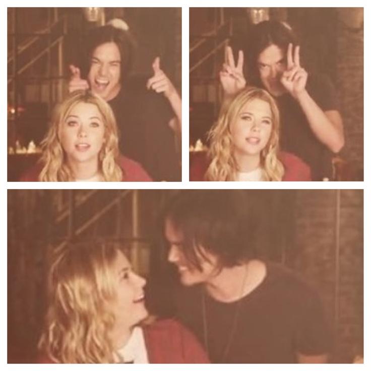 Tyler Blackburn (Caleb Rivers) Ashley Benson (Hanna Marin) - Pretty Little Liars