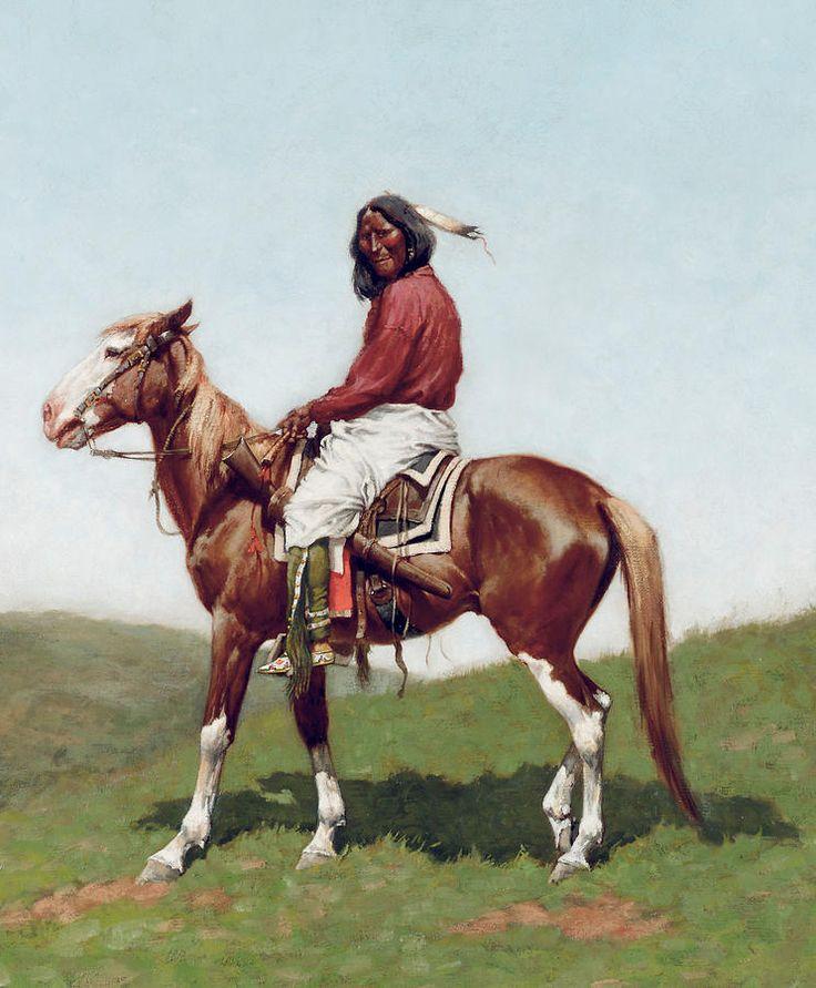 Comanche Brave. By Frederic Remington