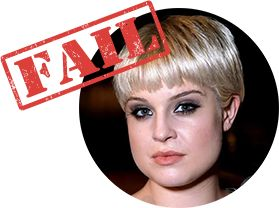 Short Haircut Fail for Triangle Shaped Face: Short Pageboy, Kelly Osbourne