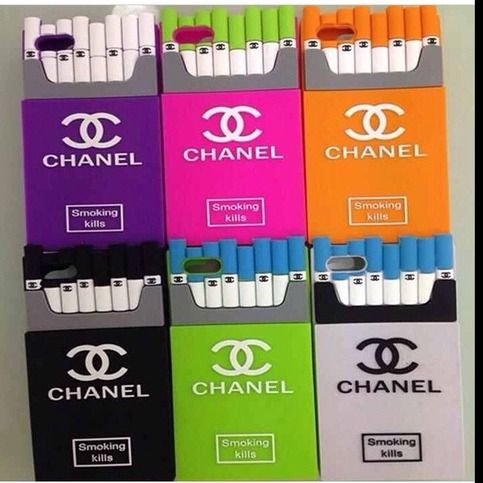 big sale 4a1bf 6ad12 Chanel Smoking Kills Case THIS STYLE AVAILABLE FOR IPHONE 4/4s 5/5S ...