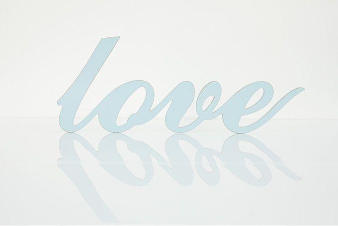wooden words- love by Bokke & Blomme