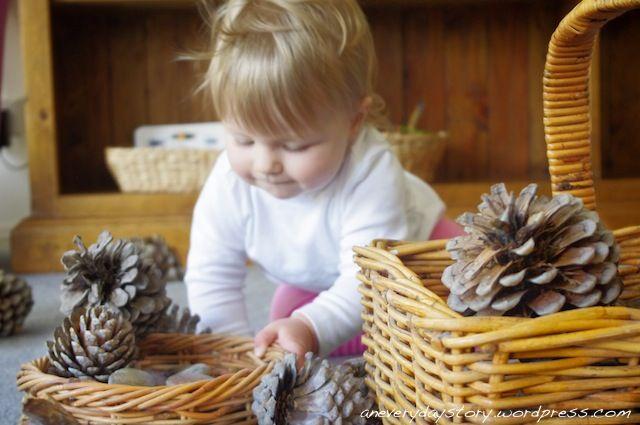 Natural Toys for Babies - Discovering Pinecones: Reggio Emilia